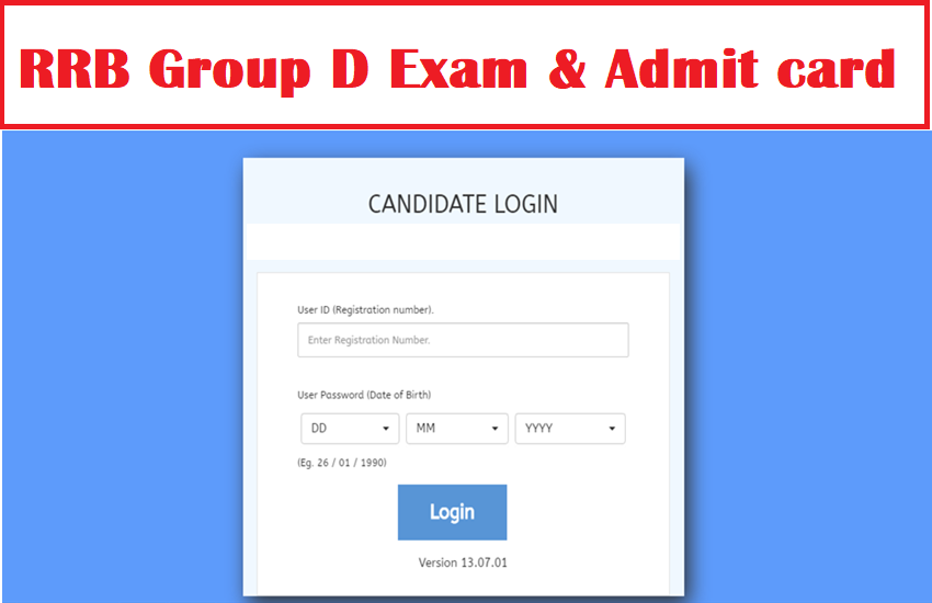 rrb group d, rrb 4th class, rrb group d exam date, group d admit card download link