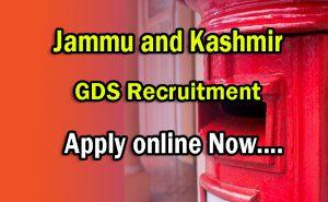 Jammu and Kashmir Postal Circle recruitment 2021-2022, GDS Vacancy, 10th Pass Jobs